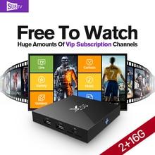 IPTV 3500 Canales IPTV Caja 2G 16G X96 Francés Sueco TV caja de Android 6.0 SUBTV Suscripción Europa Brasil Árabe IPTV Top Box