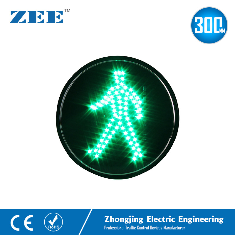 12 Inches 300mm Green Man LED Traffic Lamp Round LED Traffic Light Replacement Pedestrian Traffic Signals