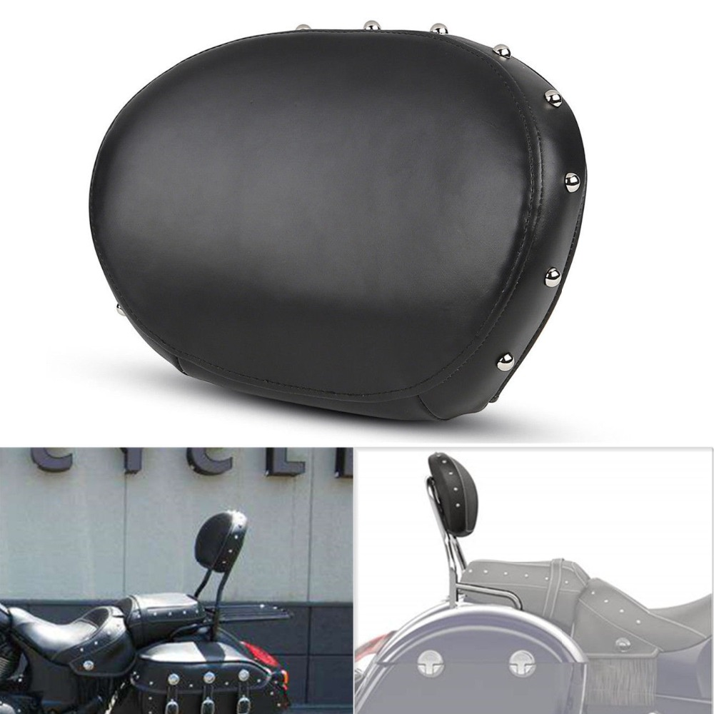 Motorcycle Passenger Backrest Sissy Bar Pad For Indian Chief Vintage 2014-2017