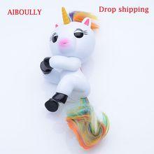 AIBOULLY интерактивные Пальчиковый Единорог Смарт индукции игрушечные лошадки Рождественский подарок игрушка палец ребенок обезьяна стиль
