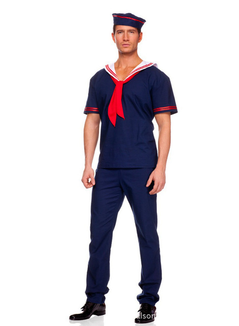 Hot Halloween navy blue sailor suit new cosplay costume  sc 1 st  AliExpress.com : blue sailor costume  - Germanpascual.Com