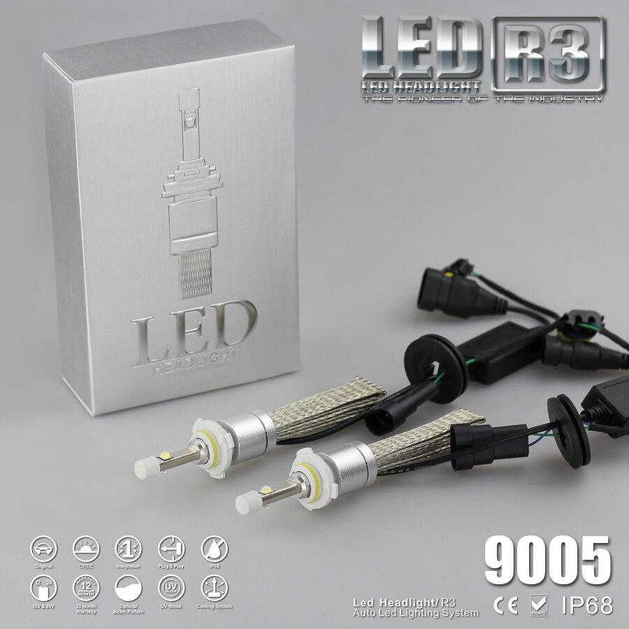 1 комплект Автомобильное Светодиодная лампа 80 Вт <font><b>9600LM</b></font> H1 <font><b>LED</b></font> H3 H7 H11 5202 6000 К белый <font><b>R3</b></font> замена лампы фар автомобиля DRL противотуманных фар