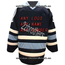 ef5c7976633 Wholesale OEM Custom Factory Hockey Jersey Maine Black/white Embroidery  Mens Supplier Tackle Twill Usa