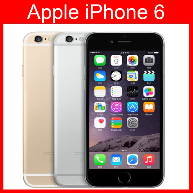 Unlocked Apple iPhone 6 Cellphones 4.7 inch IOS 8 Dual Core 1.4GHz phone 8 MP Camera 3G WCDMA 4G