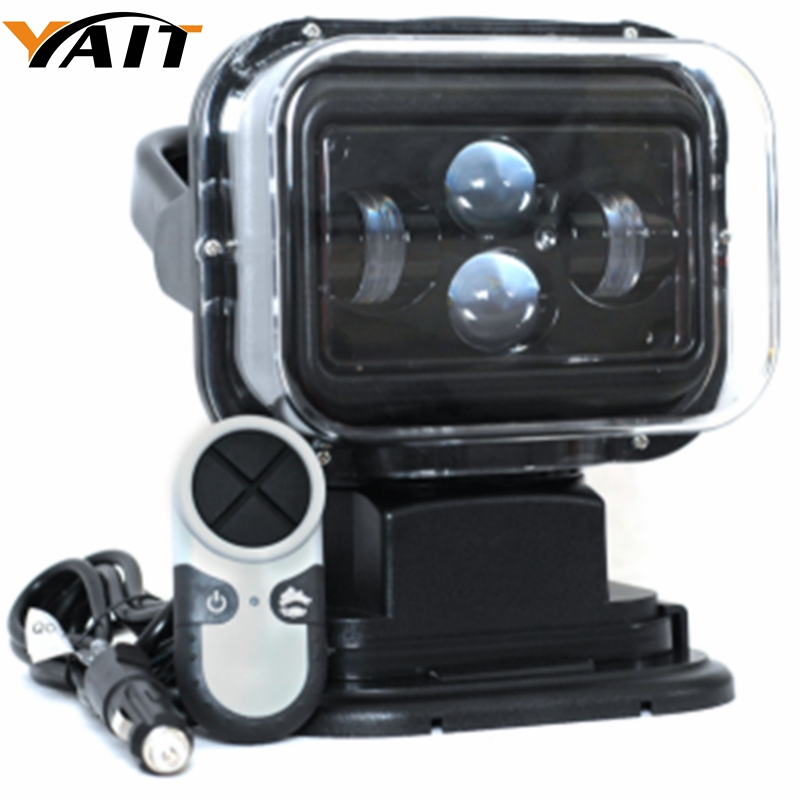 Yait 60W 12V 7'' inch LED REMOTE CONTROLLER SPOTLIGHT,WIRELESS LED SEARCH LIGHT FOR FISHING HUNTING BOAT MARINE OFF ROAD ATV