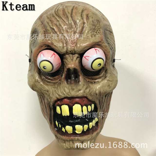 US $11 15 7% OFF|2018 New Hot Movie Killer Clown Mask Adult PVC Halloween  Party Cosplay Prank Pennywise Evil Scary Skull Mask Fancy Dress Props-in