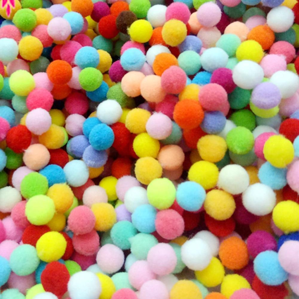 Бесплатная доставка 100 шт./лот 10 мм разные варианты помпонами Soft Pom англичане Мячи DIY Свадебные украшения Аксессуары