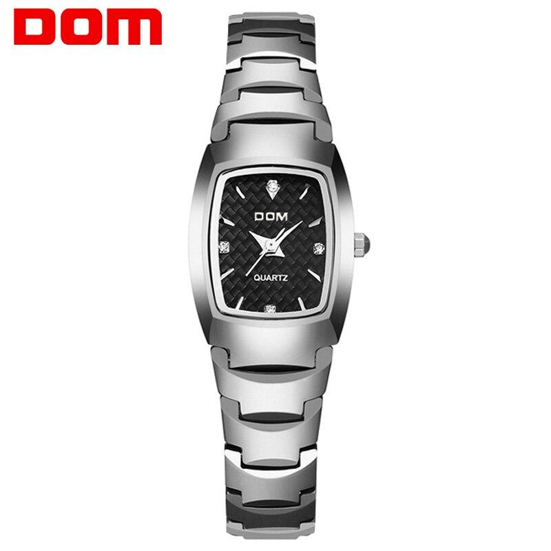 DOM Fashion Watch Women Brand Luxury Women Watches Tungsten Steel Waterproof Quartz feminino Ladies free shipping W-327-1M цена