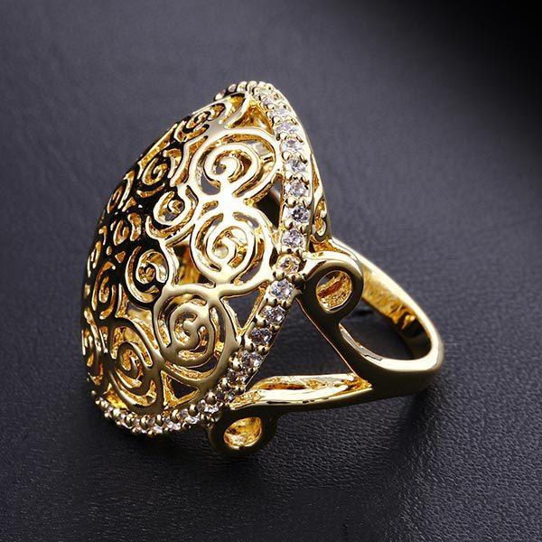 Vintage Silver Color Stone Ladies Rings