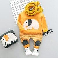 Brand Cartoon Elephant Baby Boy Clothing Set Winter Thick Warm Long Sleeve Children Boy S Clothes