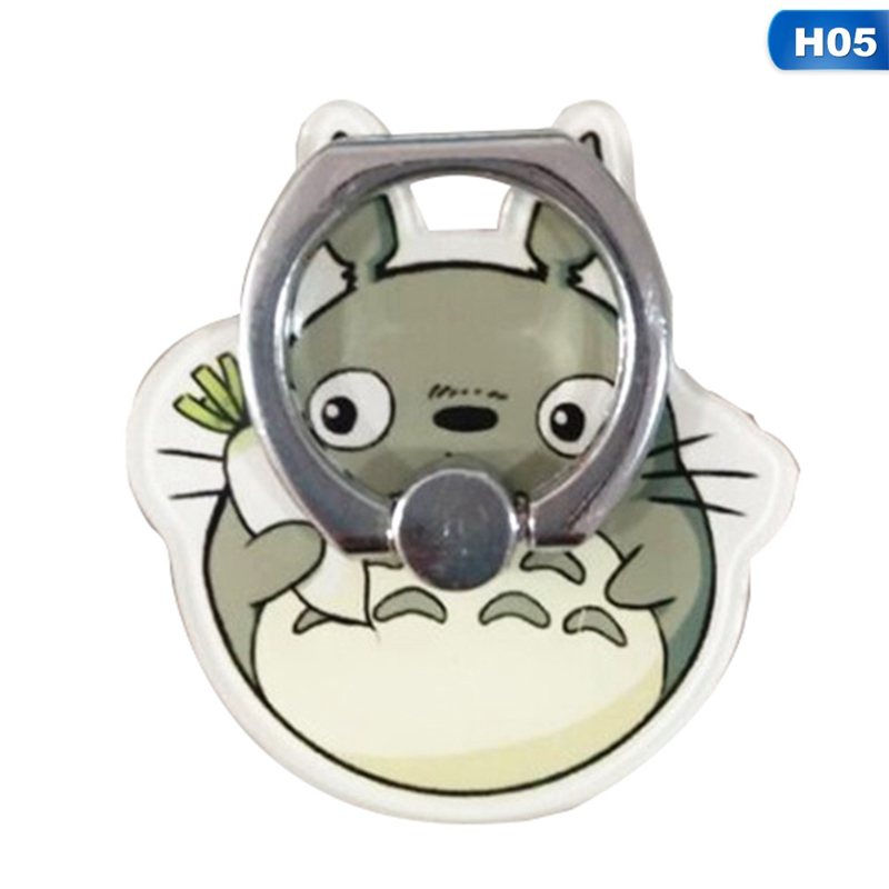 Totoro Design Phone Holders 360 Degree Plastic Finger Ring Mobile Phone Smartphone Stand Holder For IPhone Samsung Xiaomi