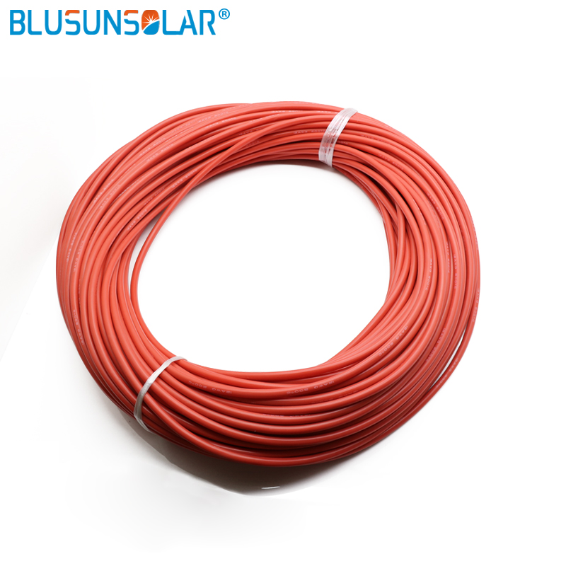 100 Meters/Roll <font><b>12</b></font> <font><b>AWG</b></font> Super Soft and Flexible <font><b>Silicone</b></font> Rubber Wire Cable Black/Red image