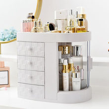 Nordic Makeup Storage Box Lipstick Brush Holder Plastic Case Home Cosmetic Organizer Rack Desktop Drawer Jewelry Organizer Boxes(China)