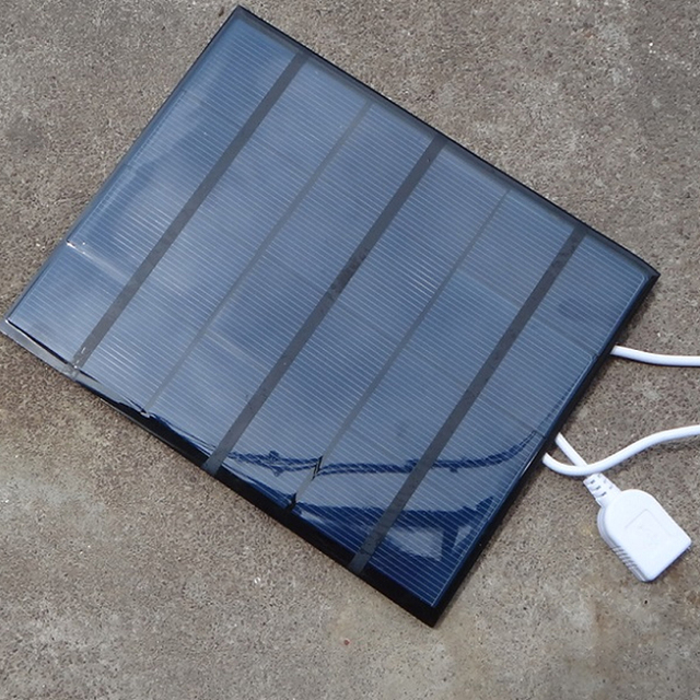 Portable Dual USB Solar Panel Battery Charger 5V 3.6W 500mA for Power Bank Supply with LED Light Fasion Travelling for MP3 MP4