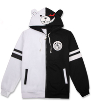 Anime Danganronpa Trigger Happy Havoc Hooded Zipper Hoodie Cosplay Costume Monokuma Jacket Men & Women Casual Sweatshirt