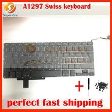 "Swiss keyboard for macbook pro 17"" A1297 Swiss Switzerland keyboard without backlit backlight 2009 2010 2011year"