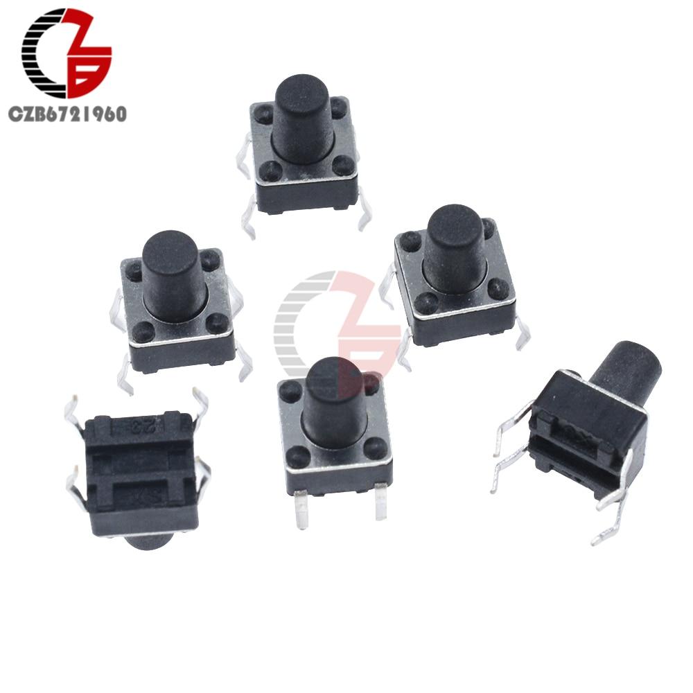 100PCS 6x6 3.1mm-13mm SPST Mini Micro Momentary Tactile Push PCB Button Switch стоимость