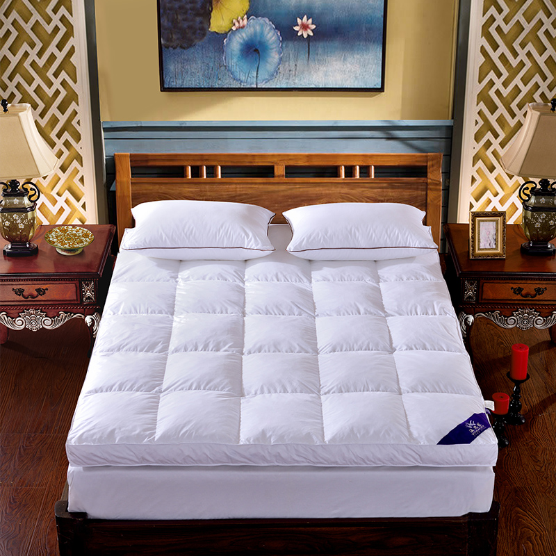 100% White Down Mattress Goose Duck Feather Bed Deluxe