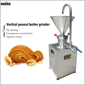 Xeoleo Commercial Peanut butter maker 1500W Stainless steel Butter machine Nut Grinder 30kg/h Sesame butter Grinding machine CE фото