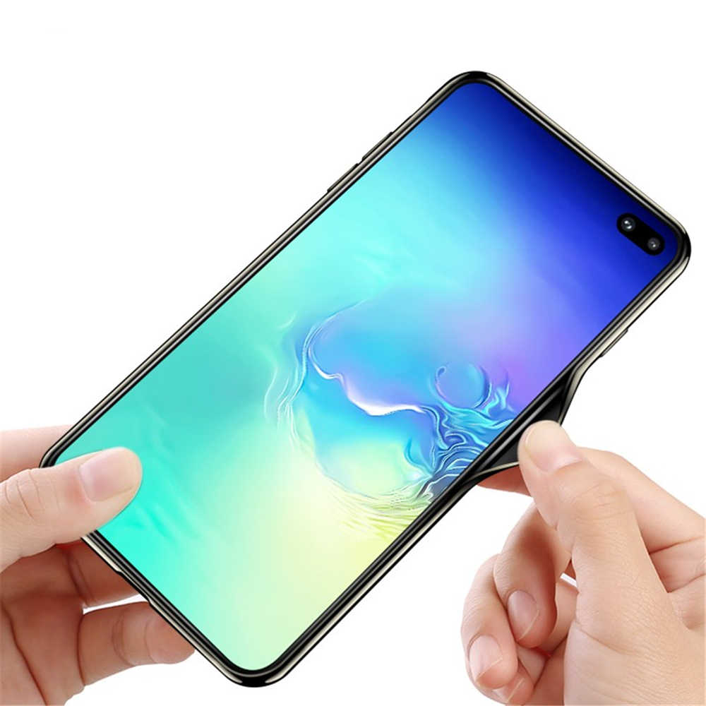 高級スリム電話ケース Samsung Galaxy S10e S10 S9 S8 Plus Note 10 8 9 耐震性、完全保護電気めっきバックケース
