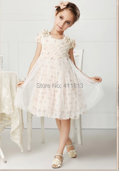 ФОТО Free shipping The New Girl Pleated Dress With Short Sleeves