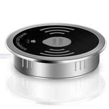 Беспроводной Настольный 3A Тип C 2.4A Беспроводной выход USB зарядного устройства Зарядное устройство для samsung S9 S8 iPhone X сотовый подставка для телефона Qi зарядного устройства