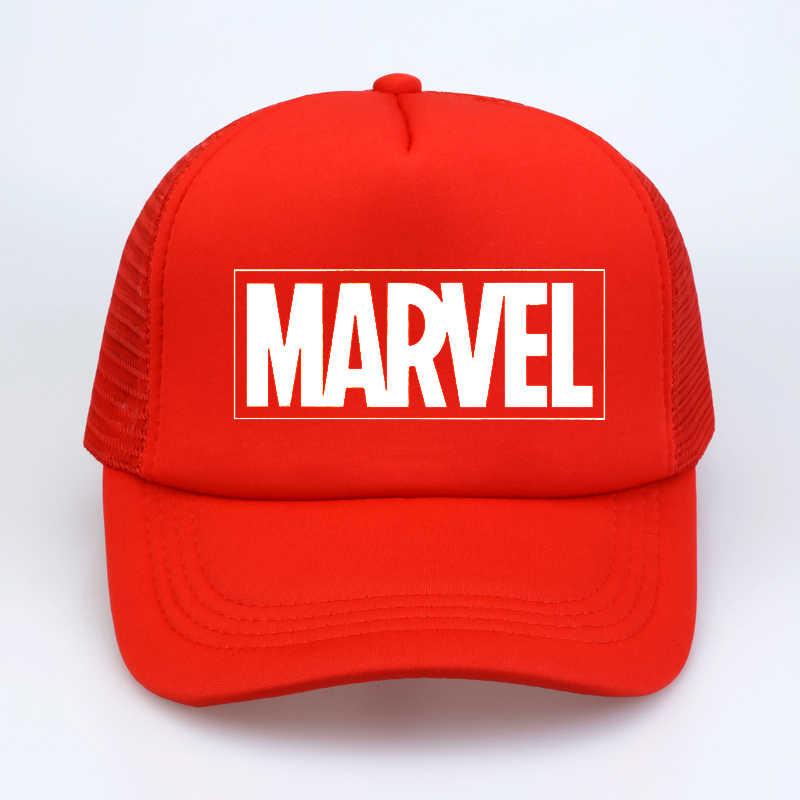 0b72e37c Marvel Comics The Avengers Men/Women Fashion Baseball Cap Adjustable  Quality print letter summer Mesh