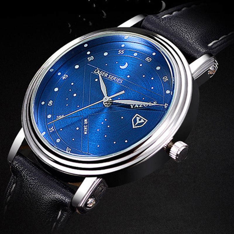 Relogio Masculino 2017 Mens Watches Top Brand Luxury Wristwatch Male Clock Men Fashion Wrist Watch Blue Dial Quartz watch A mance luxury men s watches fashion brand dragon rome digital leather hollow dial quartz wrist watch relogio masculino time clock