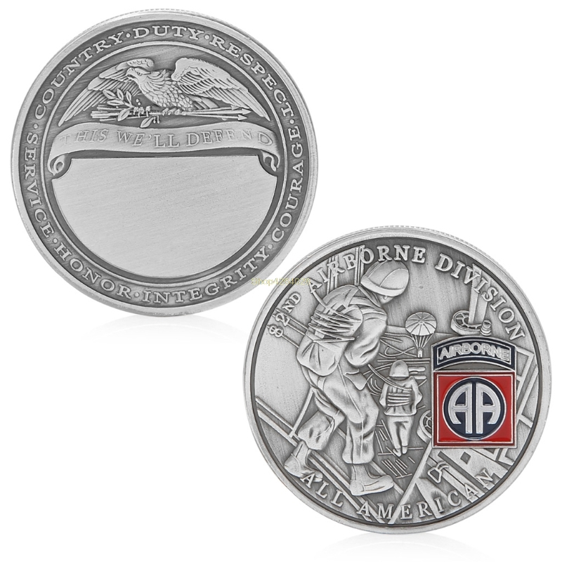 2018 Meaningful 82nd Airborne Division All American Commemorative Challenge Coin Collection Gift