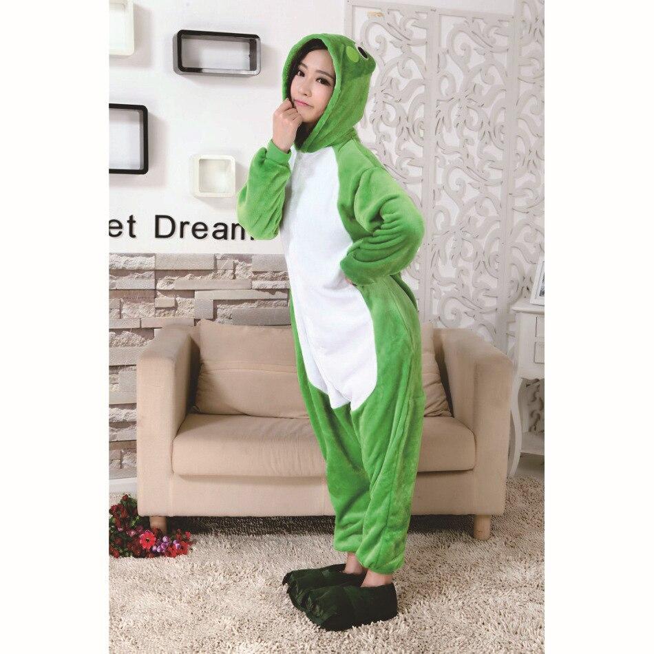 Frog Pajamas Animal Pajamas Unisex Adult Pajamas Flannel Pajamas Winter  Cute Cartoon Animal Onesies Pyjamas