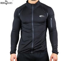 Mens Pure Color Long Sleeve T Shirt Bodybuilding Fitness Gyms Clothing 2017 New Mens Gyms Compression