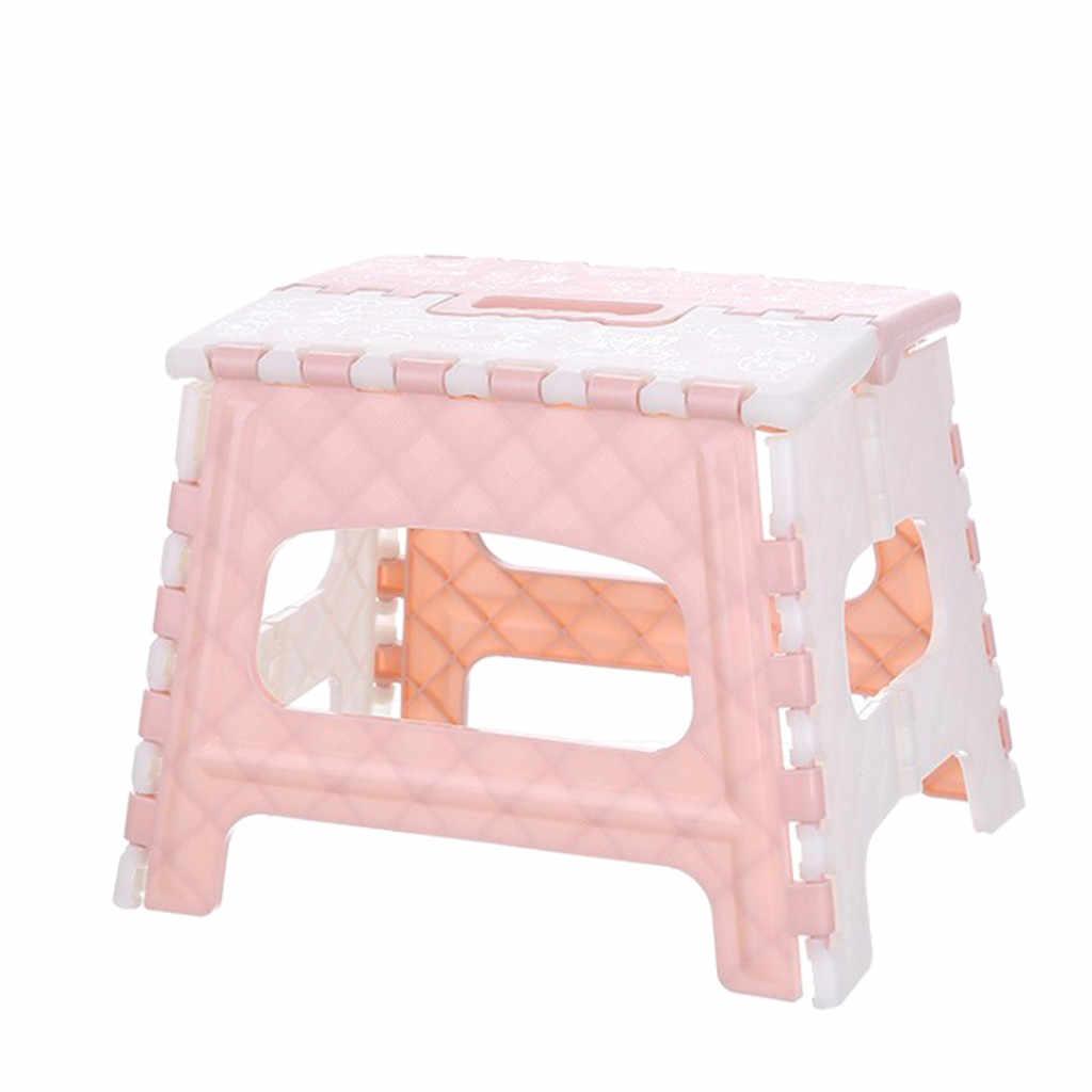 Plastic vouwen kruk De Hot Creative Draagbare Multi Purpose Opvouwbare Gevouwen Stevige Stap Kruk Thuis Keuken Garage #5 $
