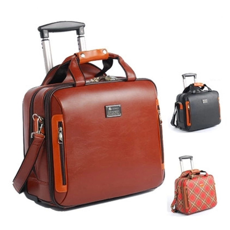 High Quality Luggage mat bolo 16Inch Commercial Leather Trolley ...