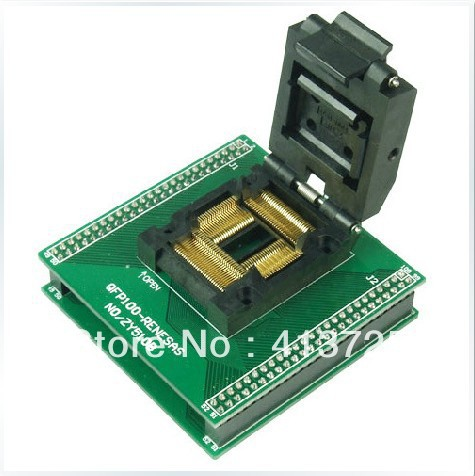 Block QFP100 ucos SmartPRO X5/X burn, ZY510B test socket adapter original plcc44 to dip40 block adapter block cnv plcc mpu51 test convert burn