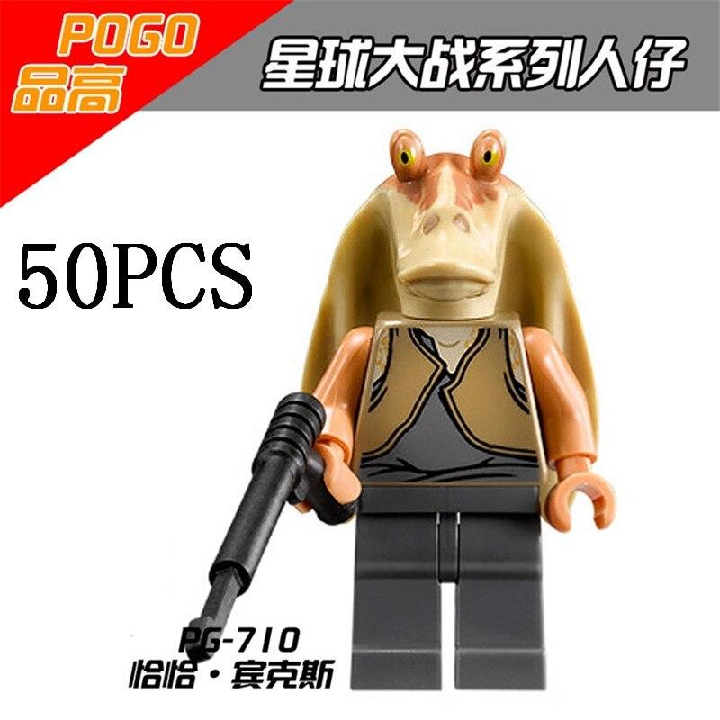 gifts Pogo Wholesales PG710 50PCS Star Wars Building Blocks Bricks Toys Action Figures Compitable With Legoe