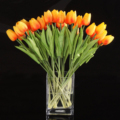 GSFY-10pcs Tulip Flower Latex for Wedding Bouquet Decor (orange tulip)