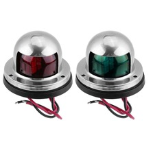 Светодиодный сигнальный фонарь из нержавеющей стали, устойчивый к коррозии, зеленый, красный