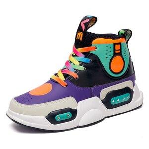 Image 5 - חורף חם נעלי אופנה Led אור עמיד למים לילדים נעלי בנות בני מגפי מושלם עבור ילדים אמיתי עור USB טעינה