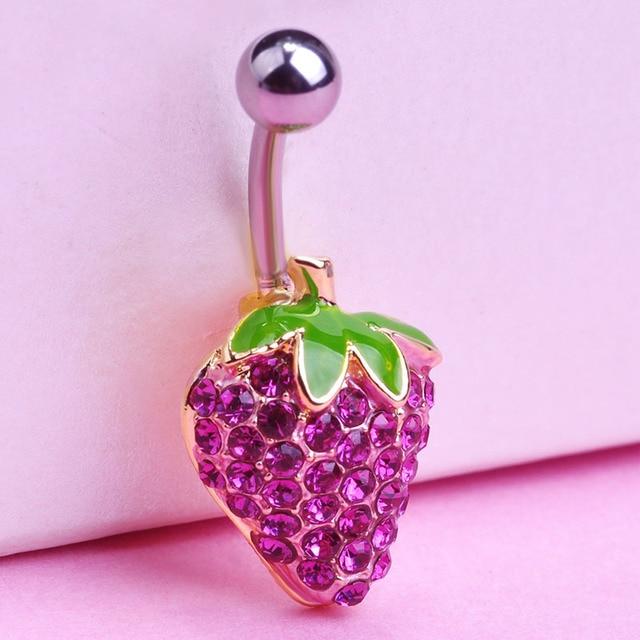 Sang trọng hiệu Sexy phụ dâu Piercing Jewelry Dangle Navel Belly Button Nhẫn Percing feminino Body đồ trang sức relogio