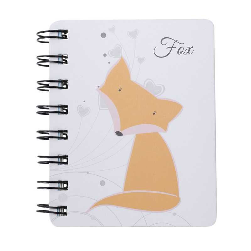1 Pcs น่ารักสัตว์การ์ตูน Rollover Notebook (fox) planner bullet journal agenda diary sketchbook cuaderno #8