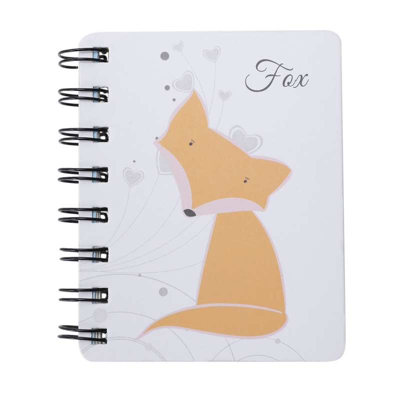 1 Pcs Creative Cute Animal Cartoon Rollover Coil Notebook (fox) Planner Bullet Journal Agenda Diary Sketchbook Cuaderno       #8