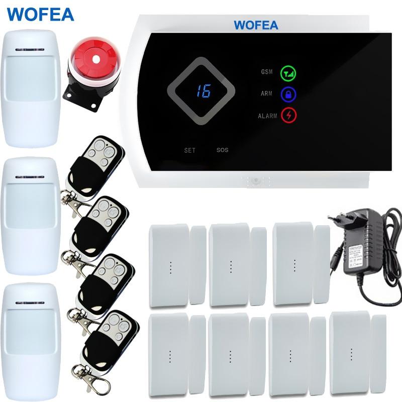 bilder für 9 Sprache IOS/Android APP 99 Wireless und 2 Verdrahtete zonen Smart Home Security GSM Alarm system