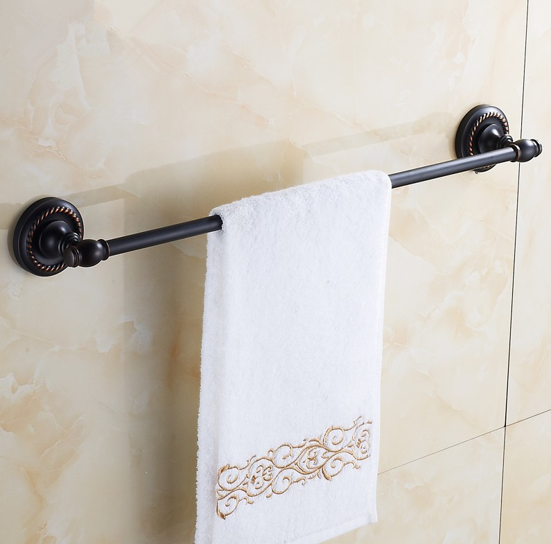 2016 Bathroom Accessories, Brass Material Antique brass Black Finish Single Towel Bar&Towel Rack /Solid Brass Design Style brass material entrance lock antique brass antique copper coffe finish