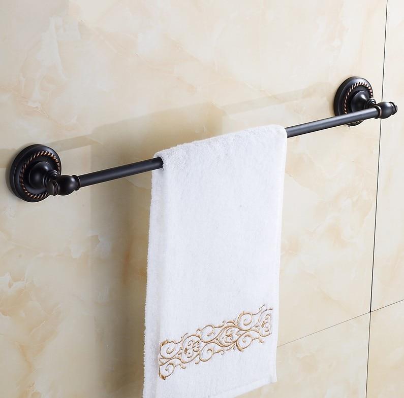 2016 accessoires de salle de bains, matériel en laiton Antique en laiton finition noire simple porte-serviettes et porte-serviettes/Style de conception en laiton massif