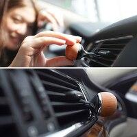 Car Ornament Wood Jellyfish Perfume Fragrance Vents Clip Automobile Interior Decoration Scent Flavor Air Freshener Purifier