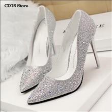cdts shoes women popular pumps Spring single with white wedding dress bridesmaid ultra thin heels high heels wedding bridal