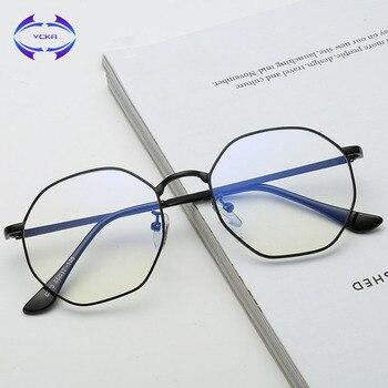 VCKA גבוהה באיכות TR90 אנטי כחול אור משקפיים גברים סגסוגת קריאת המשקפיים Eyewear משקפיים משחקי מחשב משקפיים לנשים