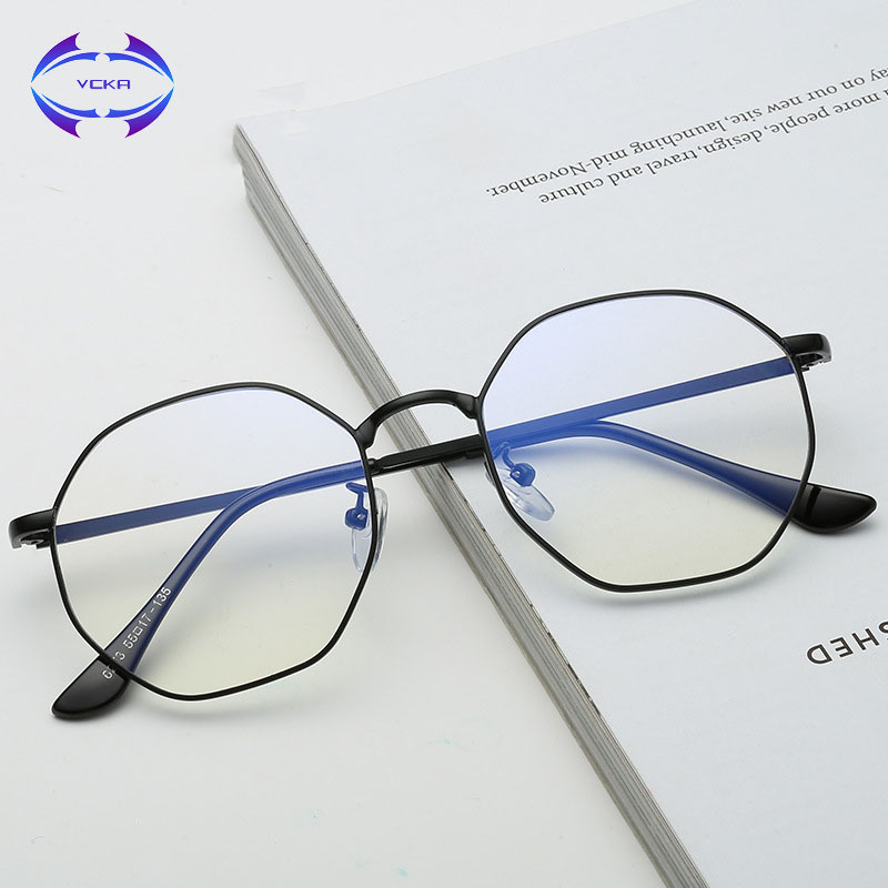 VCKA High Quality TR90 Anti Blue Light Glasses Men Alloy Reading Goggle Eyewear Eyeglasses Gaming Computer Glasses For Women