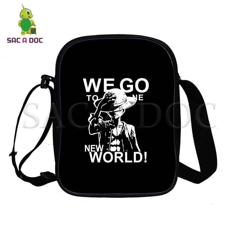 One Piece Mini Shoulder Bag Double Player Handbags Luffy