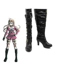Danganronpa V3 Killing Harmony Iruma Miu Rabbit Cosplay Rivet Boots Shoes Costume Black
